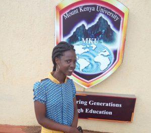 Monique étudiante rwandaise